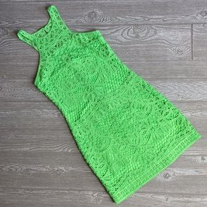 Lilly Pulitzer Green Crochet Jamie Dress Small